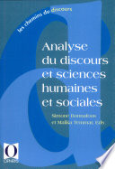 Analyse du discours et sciences humaines et sociales