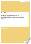 Performance Measurement im Kooperationsmanagement von Supply Chains