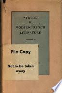 Studies in Modern French Literature
