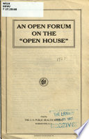 An Open Forum on the  open House   Book PDF