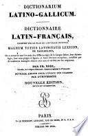 Dictionarium latino gallicum