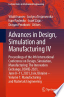 Advances In Design Simulation And Manufacturing Iv