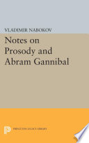 Notes On Prosody And Abram Gannibal book