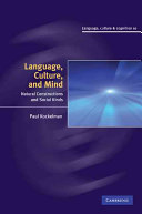 Language  Culture  and Mind