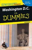Washington  D C  For Dummies