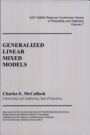 Generalized Linear Mixed Models