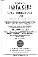 Polk's Santa Cruz (California) City Directory