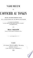 Vade mecum de l officier au Tonkin