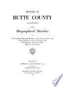 History of Butte County, California