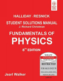 FUNDAMENTALS OF PHYSICS  STUDENT SOLUTIONS MANUAL  8TH ED