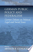 German Public Policy and Federalism