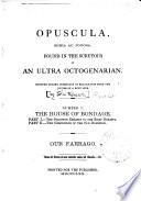 Opuscula Seria Ac Jocosa book