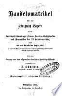 Handelsmatrikel für das Königreich Bayern