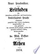 Leitfaden der deutschen  griechischen und franz  sischen Konversations Sprache