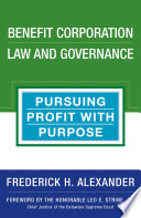 Benefit Corporation Law and Governance Book PDF