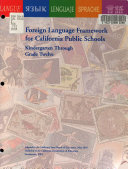Foreign Language Framework For California Public Schools