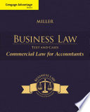 Cengage Advantage Books  Business Law  Text   Cases   Commercial Law for Accountants