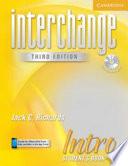 Interchange Intro Student S Book With Audio Cd