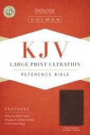 KJV Large Print Ultrathin Reference Bible  Brown Genuine Cowhide Indexed