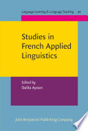 Studies in French Applied Linguistics