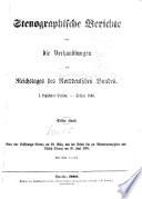 Stenographische Berichte über die Verhandlungen