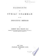 Elements of Syriac Grammar by an Inductive Method