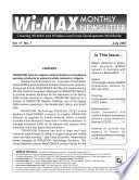 Wi MAX Monthly Newsletter
