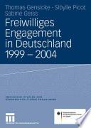 Freiwilliges Engagement in Deutschland 1999 - 2004