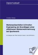 Markenpr Sentation Emotion Engineering Als Grundlagen Einer Effektiveren Markenwahrnehmung Bei Sportevents book