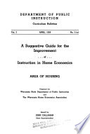 A Suggestive Guide for the Improvement of Instruction in Home Economics