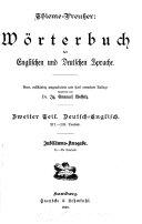 W  rterbuch der englischen und deutschen Sprache
