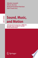 Sound  Music  and Motion
