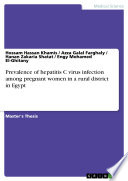 Prevalence Of Hepatitis C Virus Infection Among Pregnant Women In A Rural District In Egypt