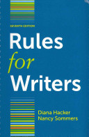 Rules for Writers 7e + The Arlington Reader 3e