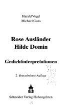 Rose Ausländer, Hilde Domin