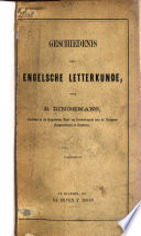 Geschiedenis der Engelsche letterkunde