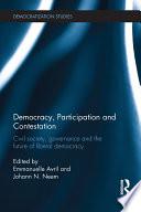 Democracy  Participation and Contestation