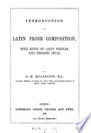 Introduction to Latin prose composition