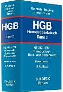 Handelsgesetzbuch (HGB) Bd. 2: §§ 343-475h
