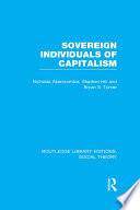 Sovereign Individuals of Capitalism  RLE Social Theory