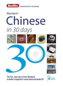 Berlitz Language  Mandarin in 30 Days