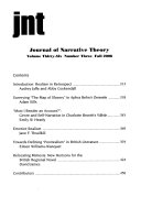 Journal Of Narrative Theory : ...