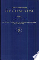 Iter Italicum. Vol. 6: (Italy III and Alia itinera IV)