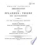 Philipp Cavolini's Abhandlungen uber Pflanzen-Thiere des Mittelmeers. Aus dem Italianischen ubersetzt von Wilhelm Sprengel ... und herausgegeben von Kurt Sprengel ...