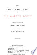 The Poetical Works of Sir Walter Scott  Bart