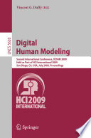 Digital Human Modeling Tional 2009 Was Held In San