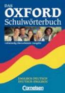Das Oxford Schulw Rterbuch Englisch Deutsch Deutsch Englisch