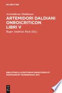 Artemidori Daldiani Onirocriticon libri V
