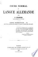 Cours normal de langue allemande ...: Partie grammaticale