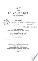 Acts of the Privy Council of England
